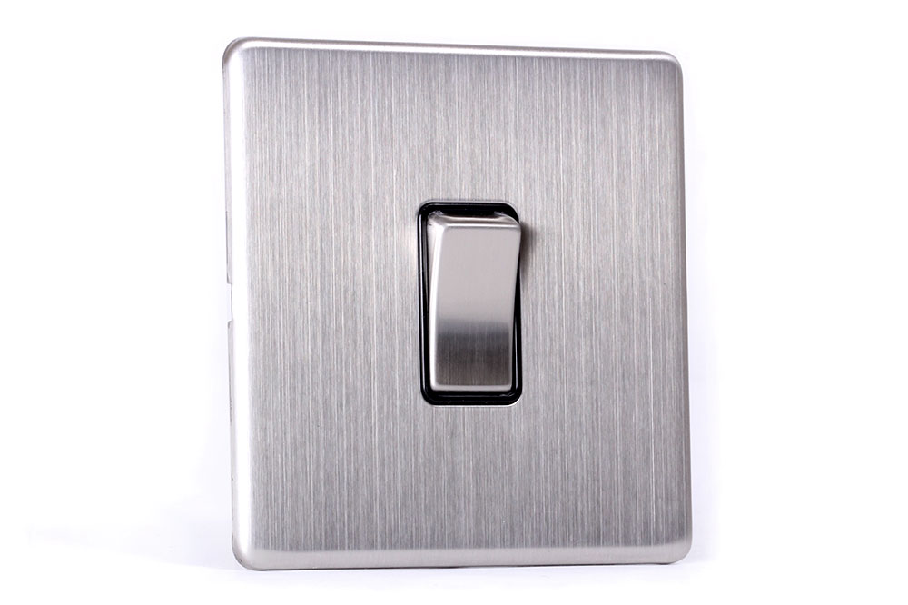 Area 1 gang wall light switch brushed chrome express deliveryarea area 1 gang wall light switch brushed chrome aloadofball Image collections