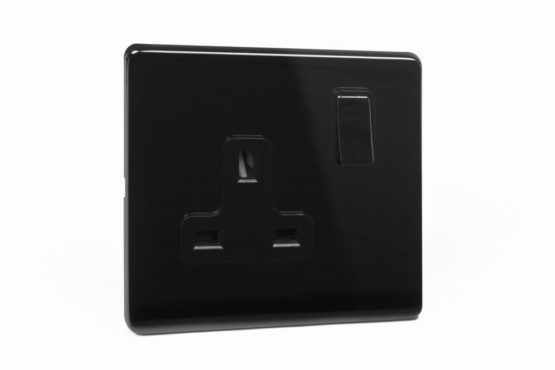 area-one-gang-wall-socket-polished-black-nickel-side-view