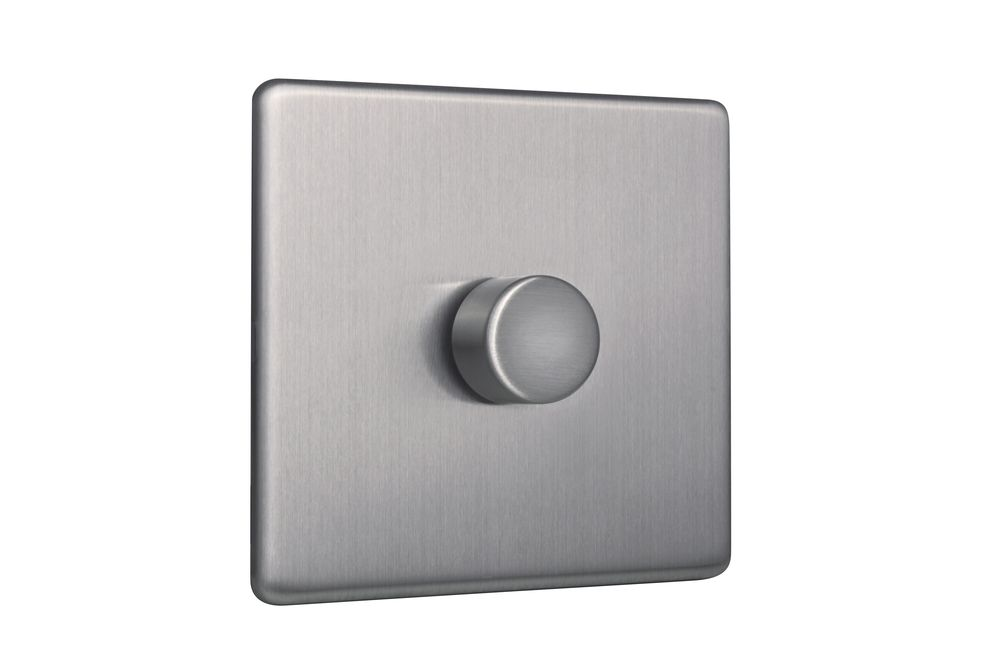 Area - 1 Gang Dimmer Switch - Brushed Chrome - Area Products